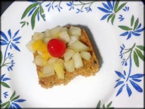 bizcocho de avena y zanahoria